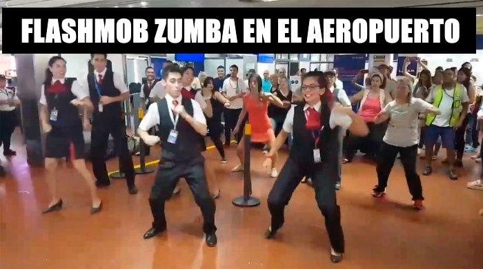 Zumba en el aeropuerto